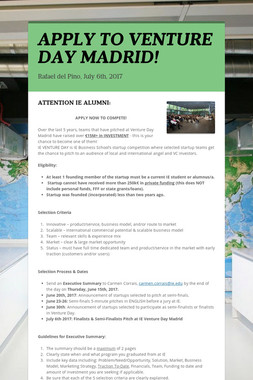 APPLY TO VENTURE DAY MADRID!