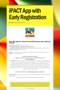 iPACT App with Early Registration