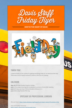 Davis Staff Friday Flyer