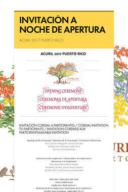 INVITACIÓN A NOCHE DE APERTURA