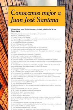 Conocemos mejor a Juan José Santana