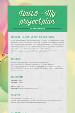 Unit 5 - My project plan