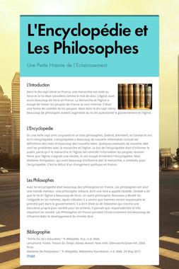 L'Encyclopédie et Les Philosophes