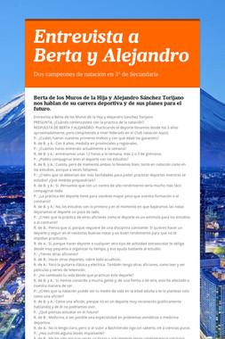Entrevista a Berta y Alejandro