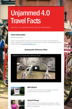 Unjammed 4.0 Travel Facts