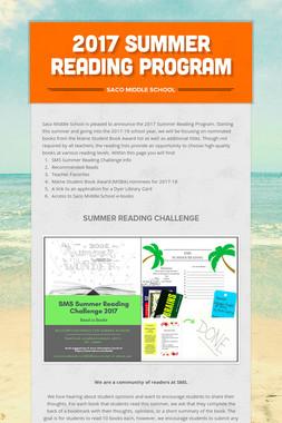 2017 Summer Reading Program