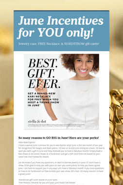 June Incentives for YOU only!