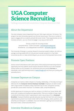UGA Computer Science Recruiting