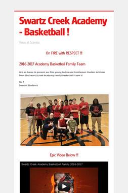 Swartz Creek Academy - Basketball !
