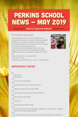Perkins School News - May 2019