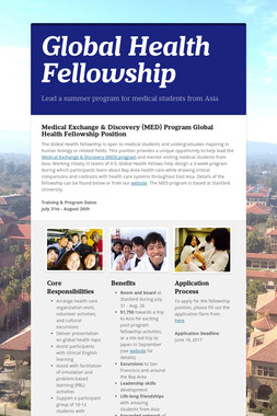 Global Health Fellowship