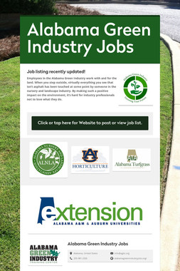Alabama Green Industry Jobs