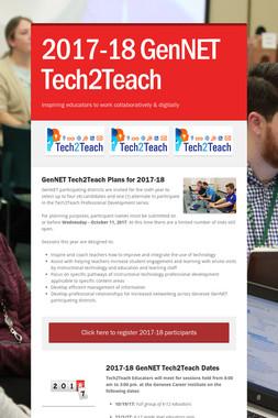 2017-18 GenNET Tech2Teach