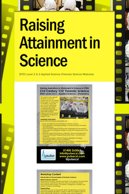 Raising Attainment in Science