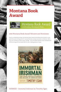 Montana Book Award