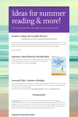 Ideas for summer reading & more!