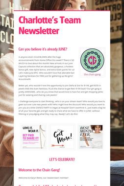 Charlotte's Team Newsletter