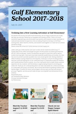 Gulf Elementary School 2017-2018