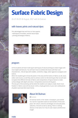 Surface Fabric Design