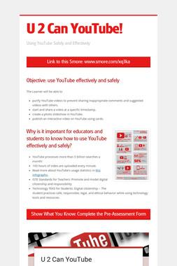 U 2 Can YouTube!