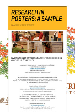 RESEARCH   IN POSTERS: A SAMPLE