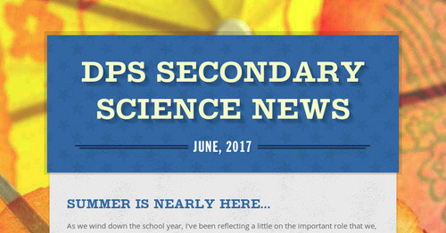DPS Secondary Science News | Smore Newsletters for Education