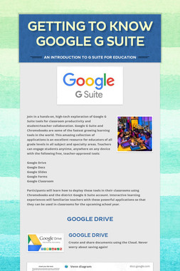 Getting to Know Google G Suite