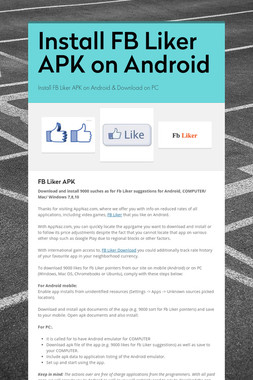 Install FB Liker APK on Android