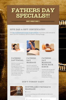 Fathers Day Specials!!!