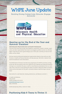 WHPE June Update
