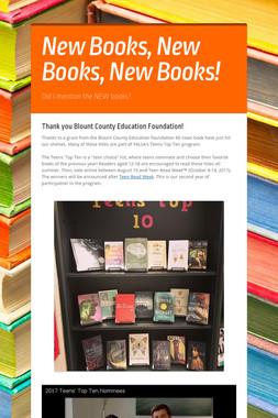 New Books, New Books, New Books!