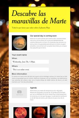 Descubre las maravillas de Marte