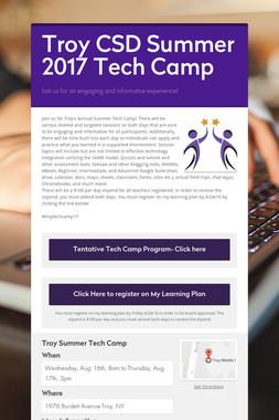 Troy CSD Summer 2017 Tech Camp