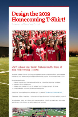 Design the 2019 Homecoming T-Shirt!