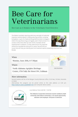 Bee Care for Veterinarians