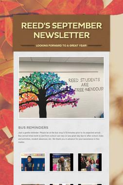 Reed's September/October Newsletter