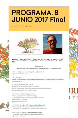 PROGRAMA, 8 JUNIO 2017 Final