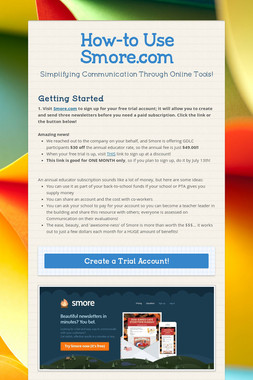 How-to Use Smore.com