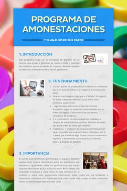 PROGRAMA DE AMONESTACIONES