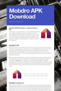 Mobdro APK Download