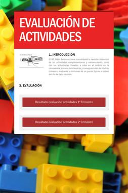 EVALUACIÓN DE ACTIVIDADES