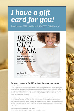 I have a gift card for you!