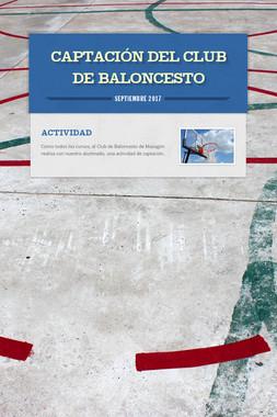 CAPTACIÓN DEL CLUB DE BALONCESTO