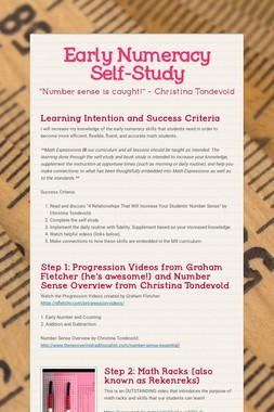 Early Numeracy Self-Study