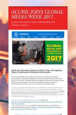 ACURIL JOINS GLOBAL MEDIA WEEK 2017