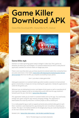 Game Killer Download APK