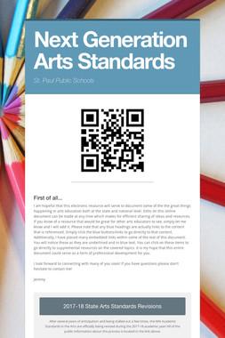 Next Generation Arts Standards