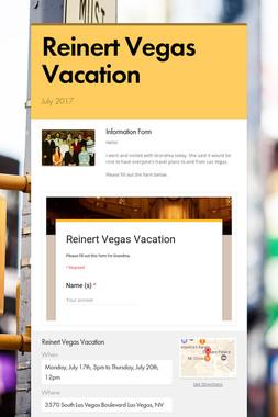 Reinert Vegas Vacation
