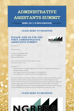 Administrative Assistants Summit