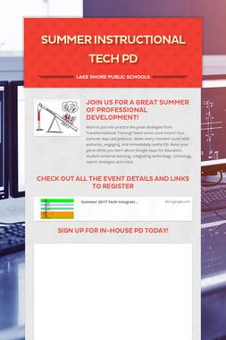 Summer Instructional Tech PD